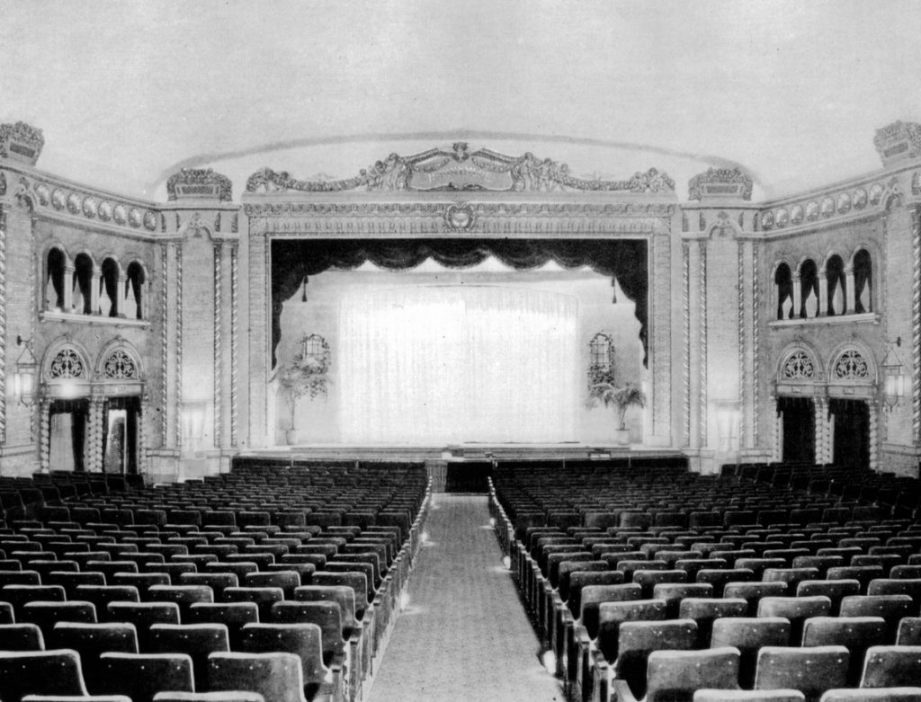 Undated photo - Auditorium and stage at the Runnymede Theatre