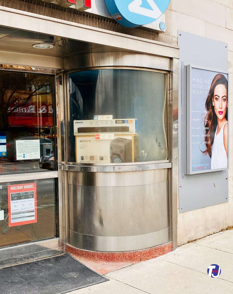 2020 - Runnymede Theatre's ticket booth, now Shoppers Drug Mart