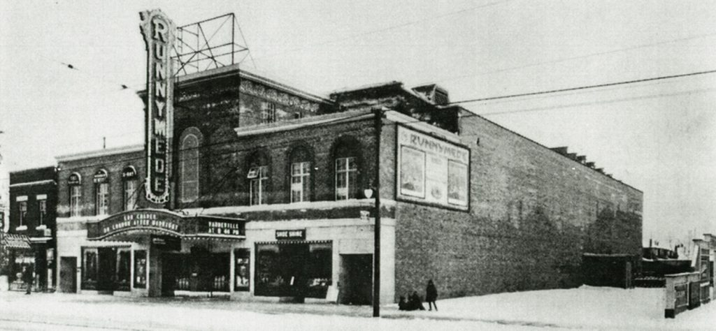 Undated photo - Runnymede Theatre on Bloor St W, looking southeast towards Runnymede Rd
