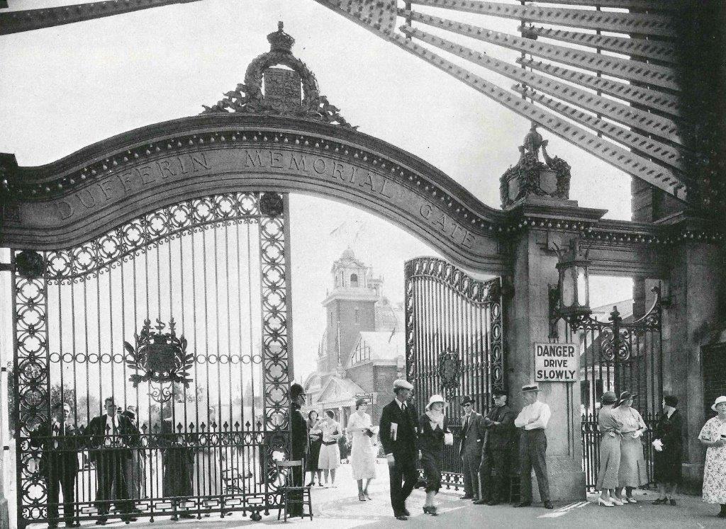 """1920 - The second Dufferin """"Memorial"""" Gate"""
