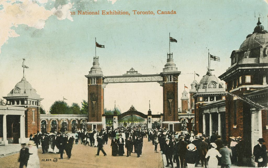 1915 - A Canadian National Exhibition postcard showcasing the second Dufferin Gate