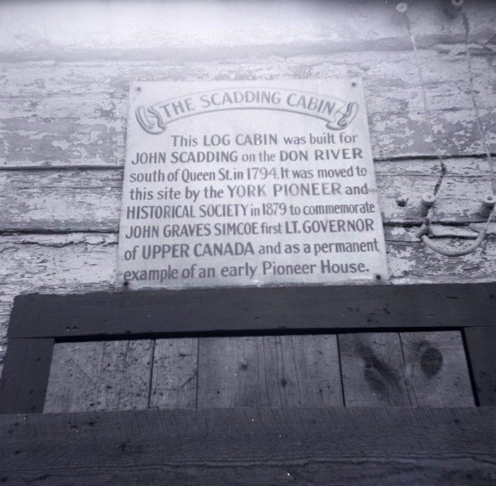 1951 - Scadding Cabin sign