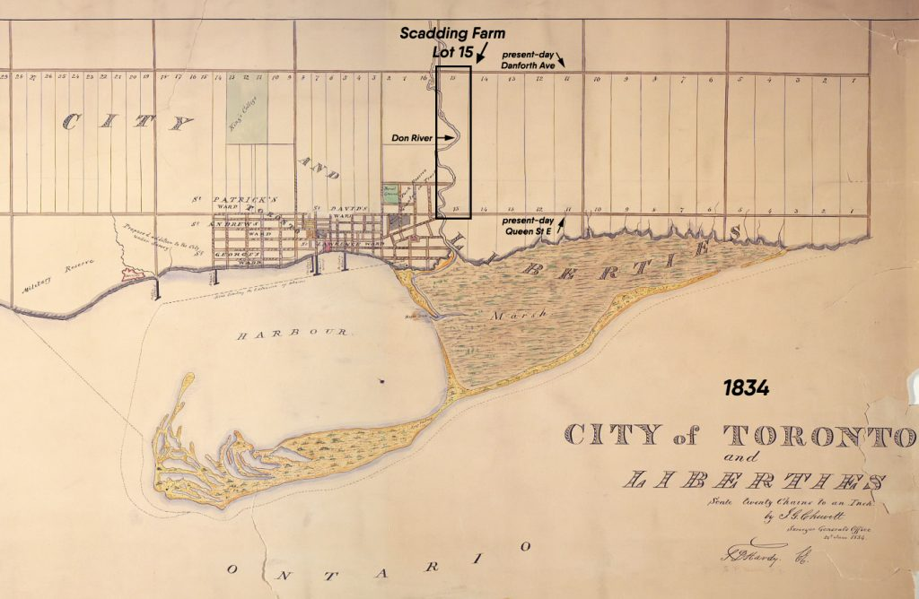 1834 - A map of the City of Toronto and Liberties