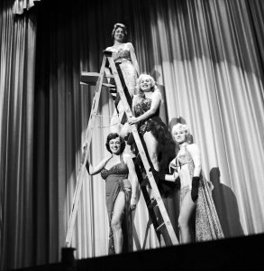 1960 - Performers on the stage of the Lux in Toronto