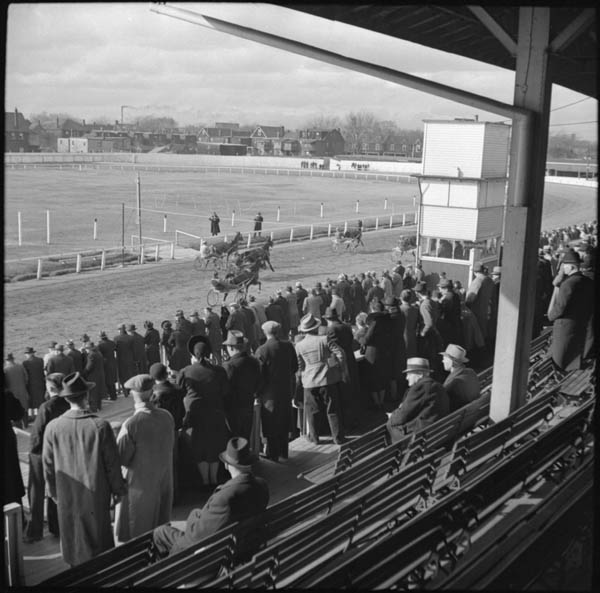 1941 - The stands and racetrack at Dufferin Park