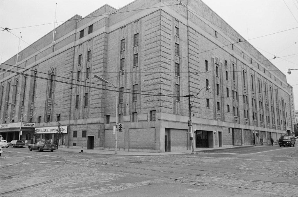 1972 - Maple Leaf Gardens at Carlton & Church Sts, looking northwest