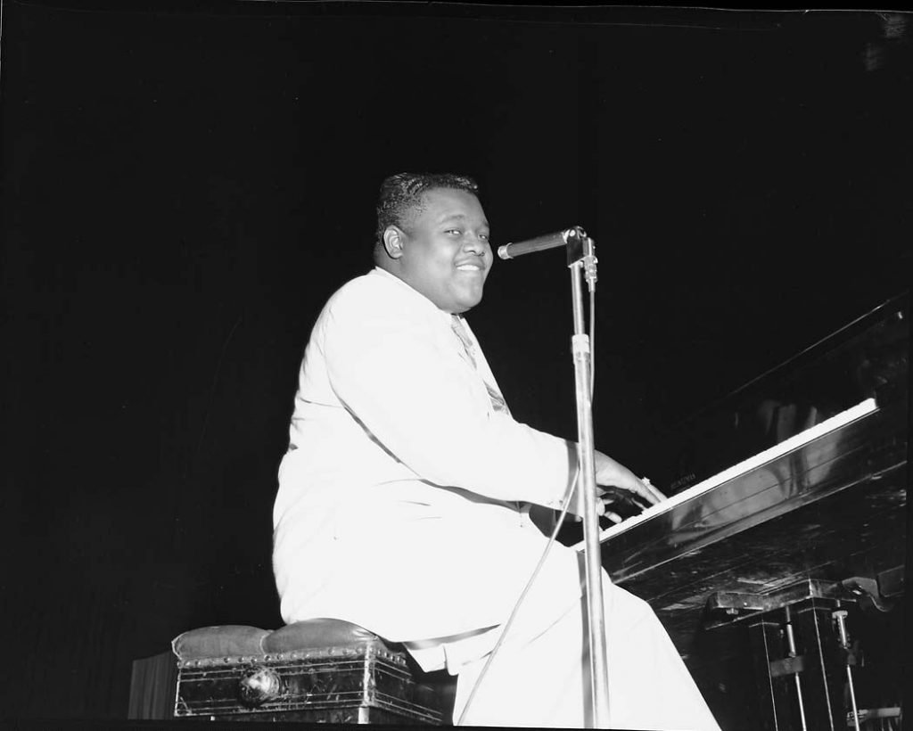 1950's - Fat's Domino on stage at Maple Leaf Gardens