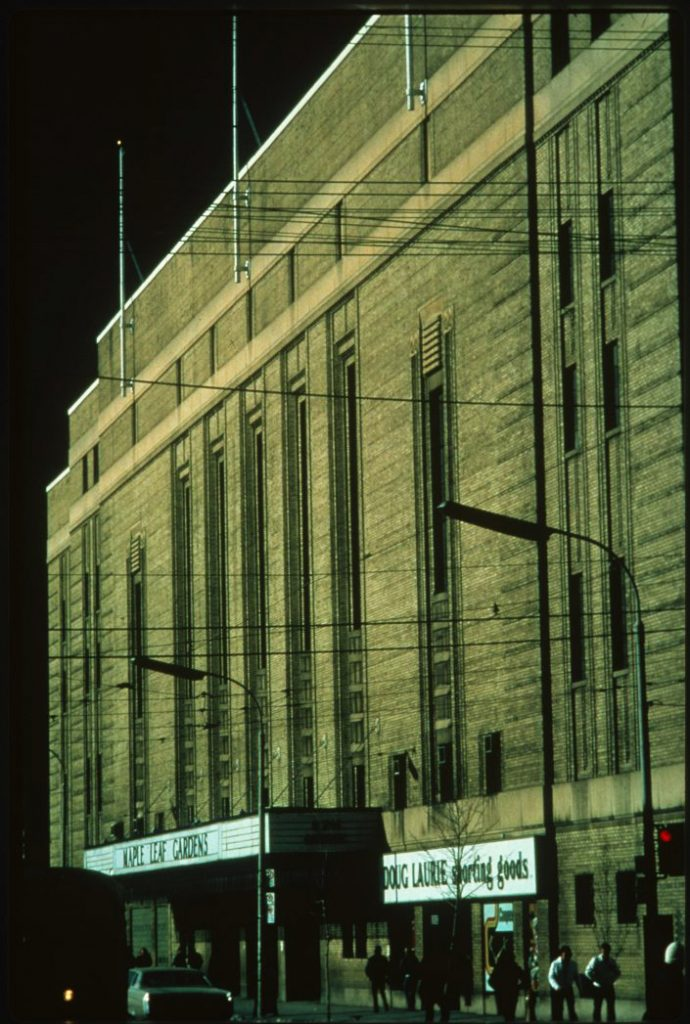 1984/87 - Maple Leaf Gardens on Carlton St, looking northwest