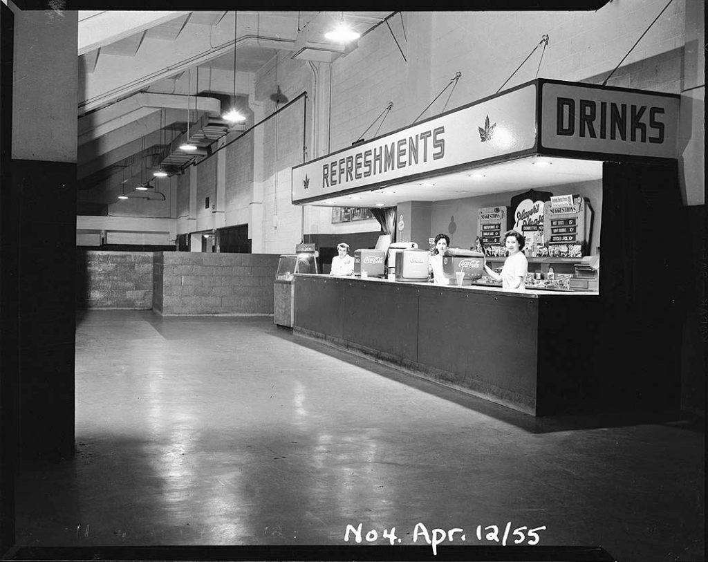 1955 - Refreshment stand at The Gardens