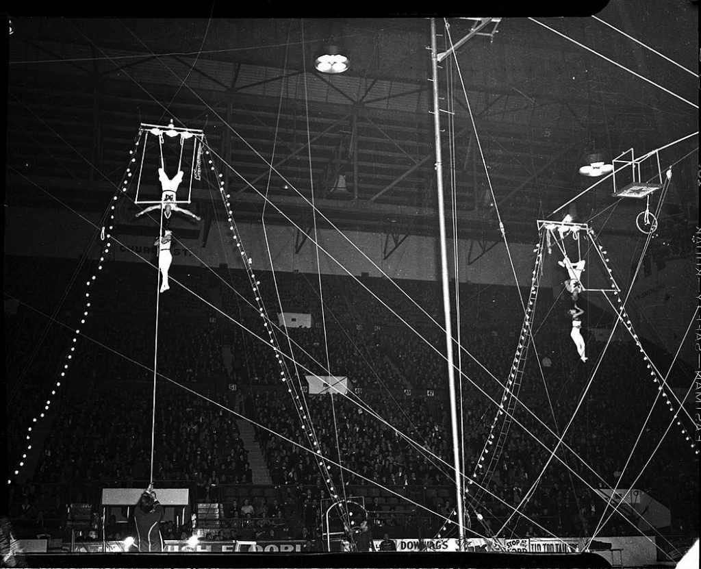 1940's - Circus trapeze artists at The Gardens