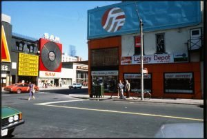 1978/80 - Sam's and Thrifty's on Yonge St, looking southeast from Elm St