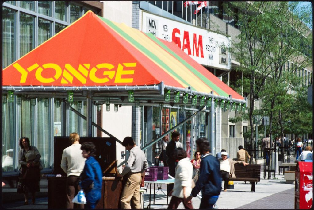 1980's - Sam's on Gould St, looking northeast from Yonge St