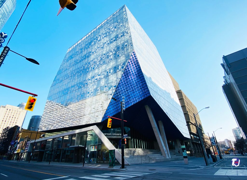 2021 - The property Sam the Record Man once occupied at Yonge & Gould Sts, is now home to the Ryerson University Student Learning Centre