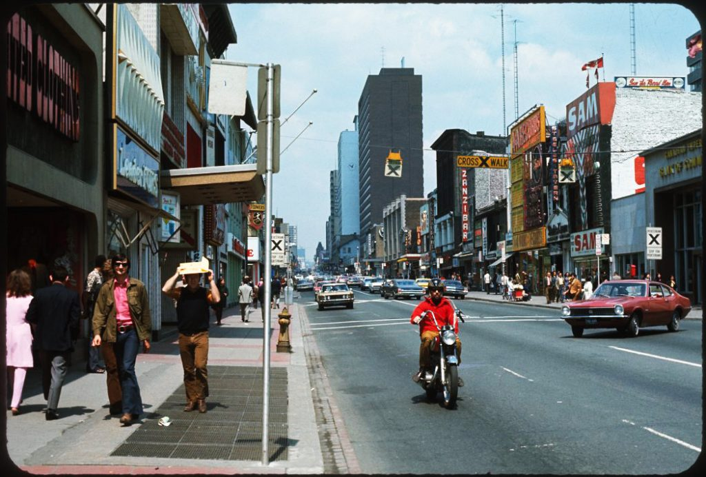 1970/72 - Yonge & Gould Sts, looking north