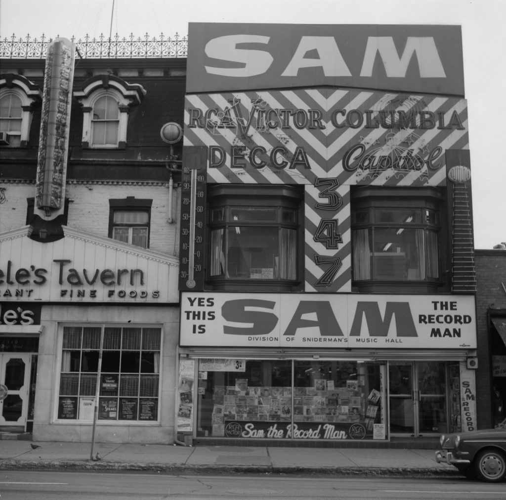 1967 - Sam the Record Man and Steele's Tavern on Yonge St