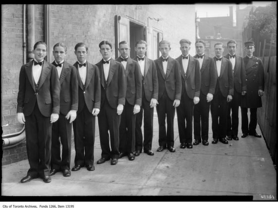 1924 - The Uptown Theatre's page boys and ushers