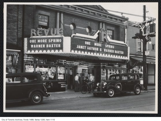 1935 - The Revue Theatre on Roncesvalles Ave, looking northwest