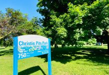 Christie Pits Park at Bloor St W & Christie St in Toronto (2020)