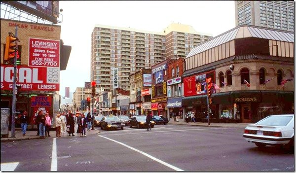 1980's - Stollery's at Yonge and Bloor Sts, looking southwest