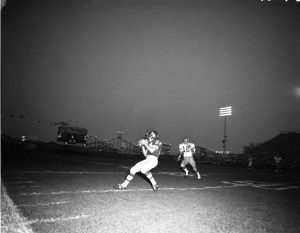 1969 - Argos football game, notice The Flyer in the background