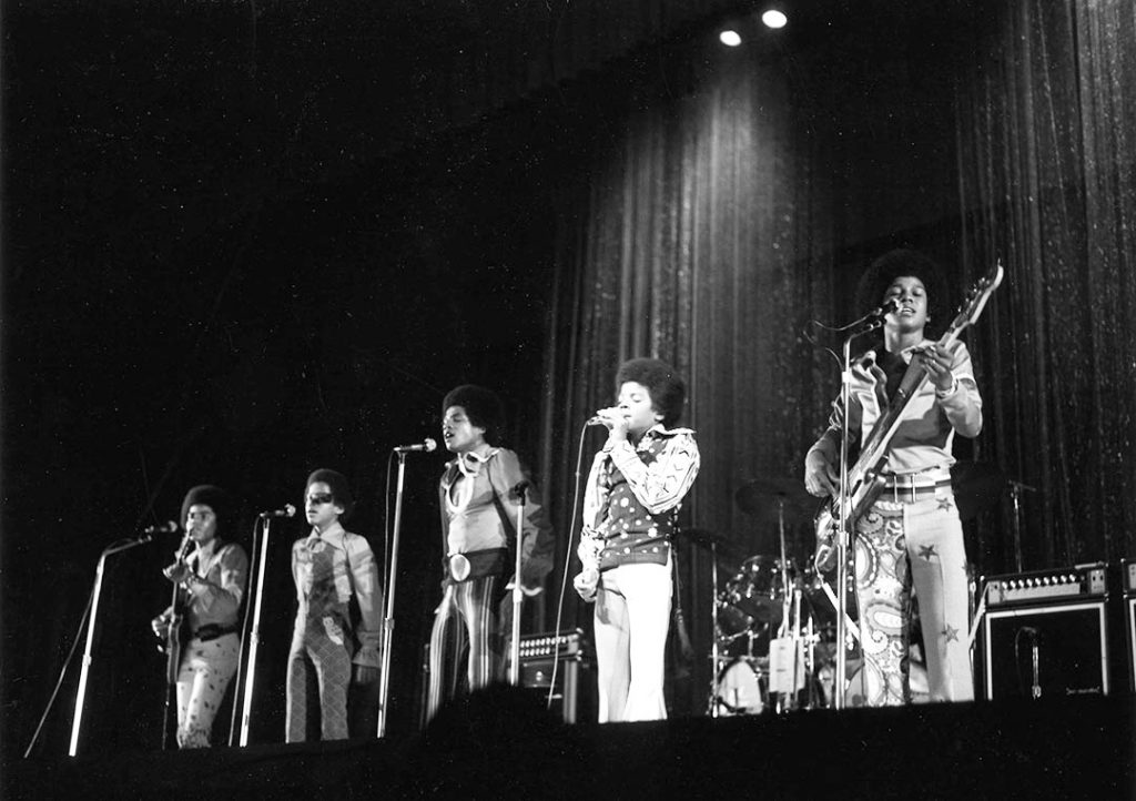 1971 - The Jackson 5 on stage at the Grandstand