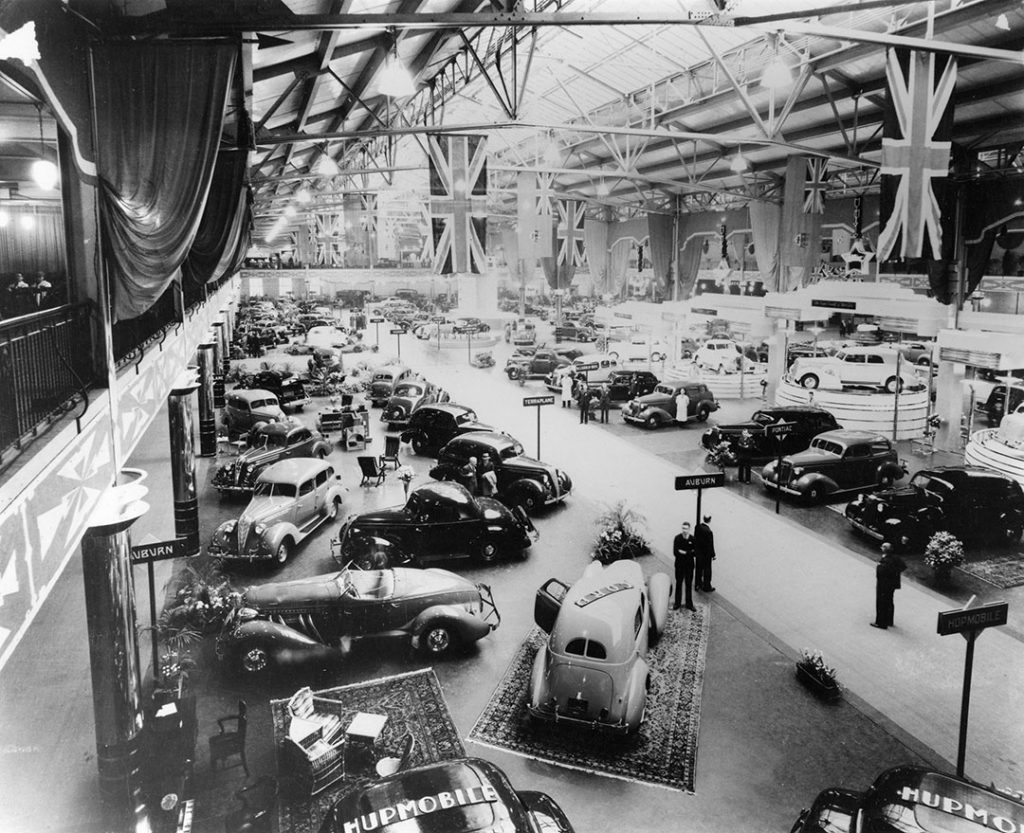 1936 - Auto Show in the Automotive Building at the Canadian National Exhibition