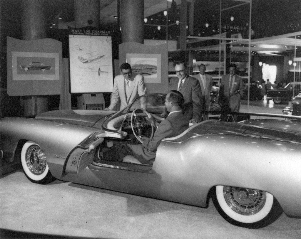 1954 - Chrysler Experimental Car on display at the CNE