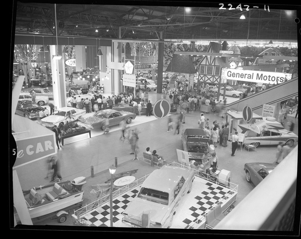 1960's - General Motors car show in the Automotive Building at the CNE