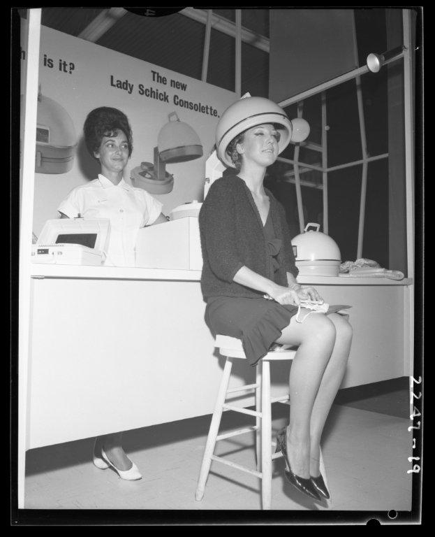 1960's - Lady Schick Consolette demo at the Canadian National Exhibition