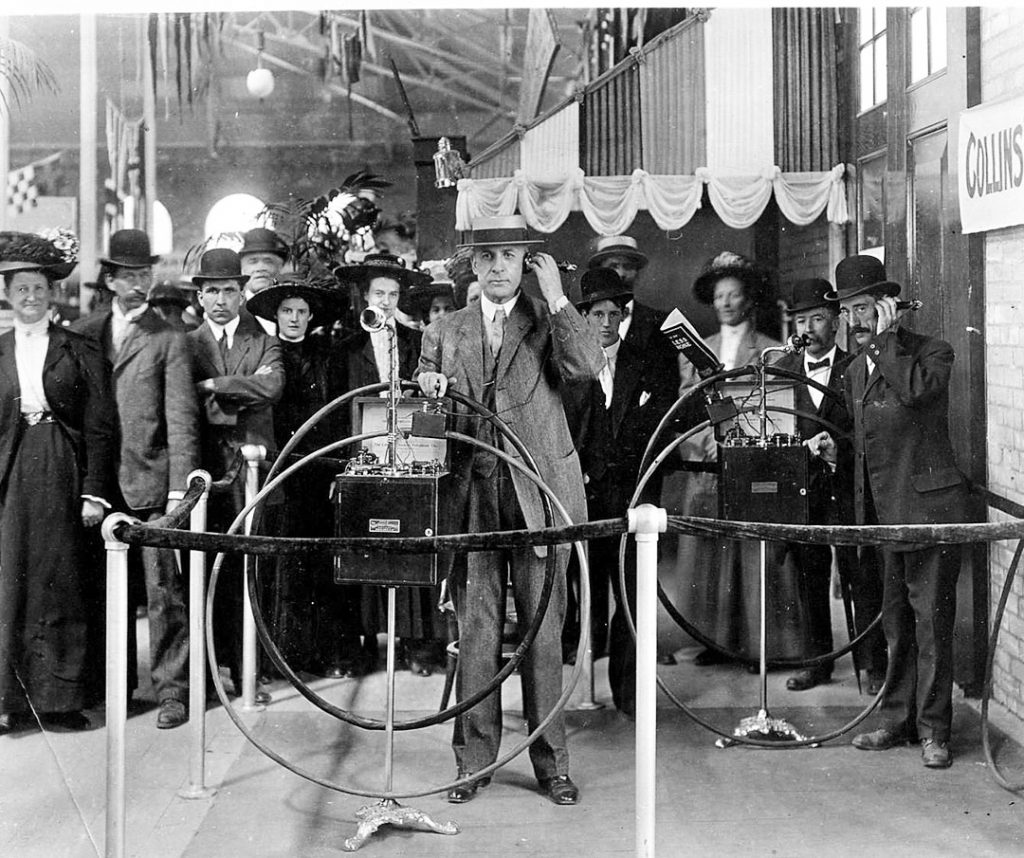 1888 - Telephone demonstration at the Exhibition
