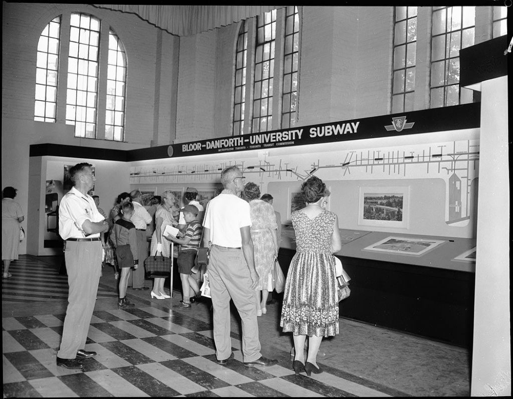 1959 - TTC exhibit in the Government Building at the CNE