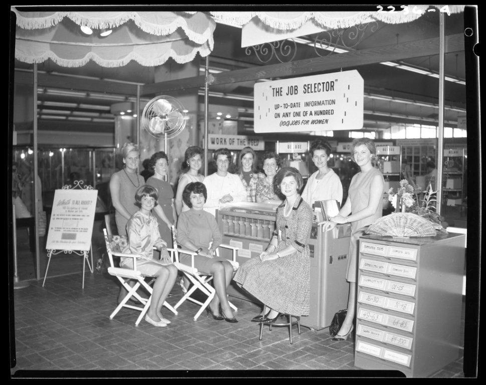 """1960's - A """"100 Jobs for Women"""" exhibit"""