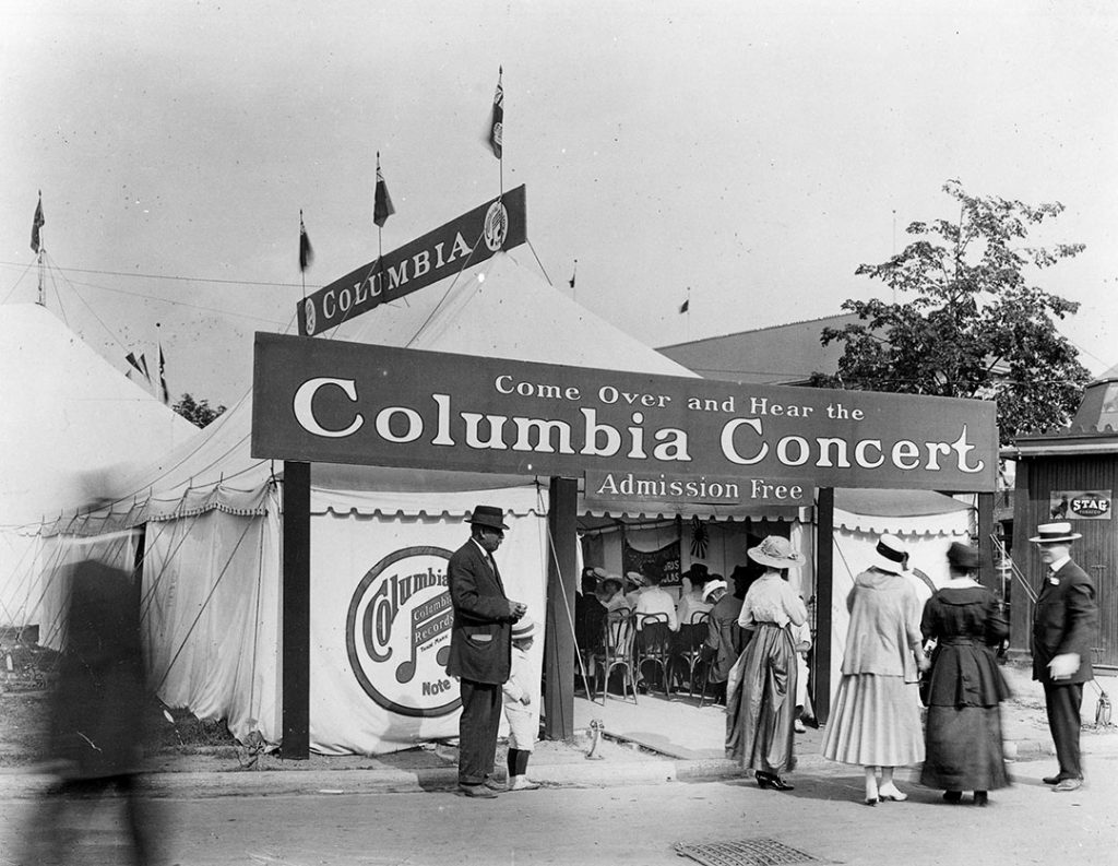 1890's - Columbia Records display at the Exhibition
