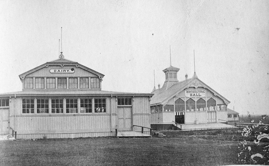 1879 - Dairy Building and Horticultural Hall at the Exhibition