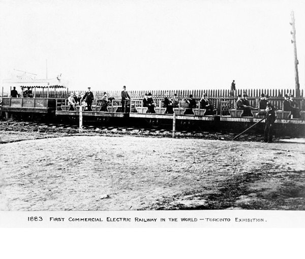 1883 - The first commercial electric railway at the Exhibition
