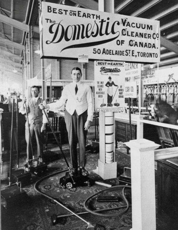 1913 - Exhibit for The Domestic Vacuum Cleaner Co. of Canada in the Manufacturers Building