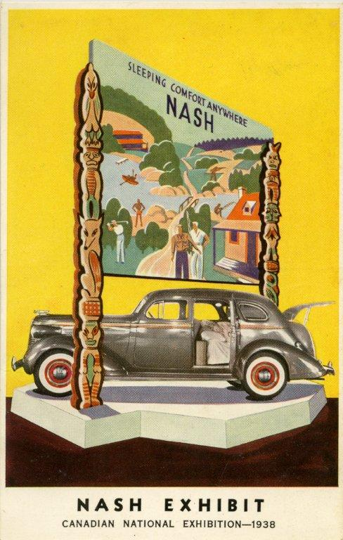 """1938 - Ad for a Nash """"Sleeping Comfort Anywhere"""" automobile exhibit"""