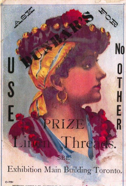 1891 - Ad for Dunbar's Prize Linen Threads