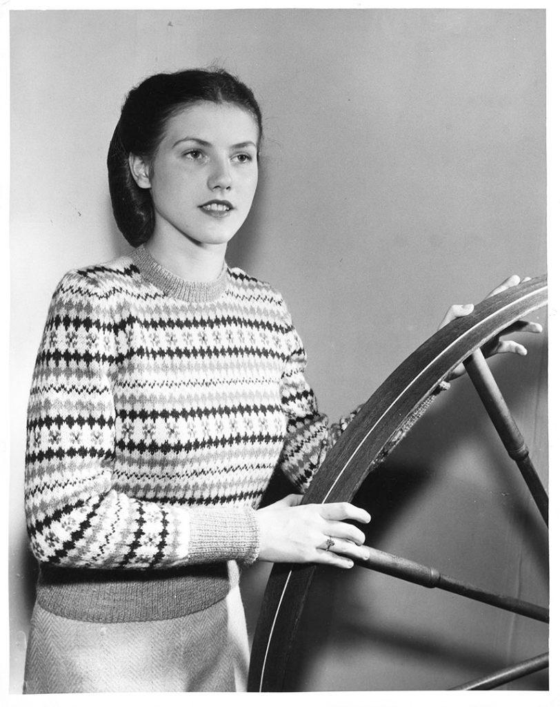 1940 - Model wearing a Kitten Mills sweater