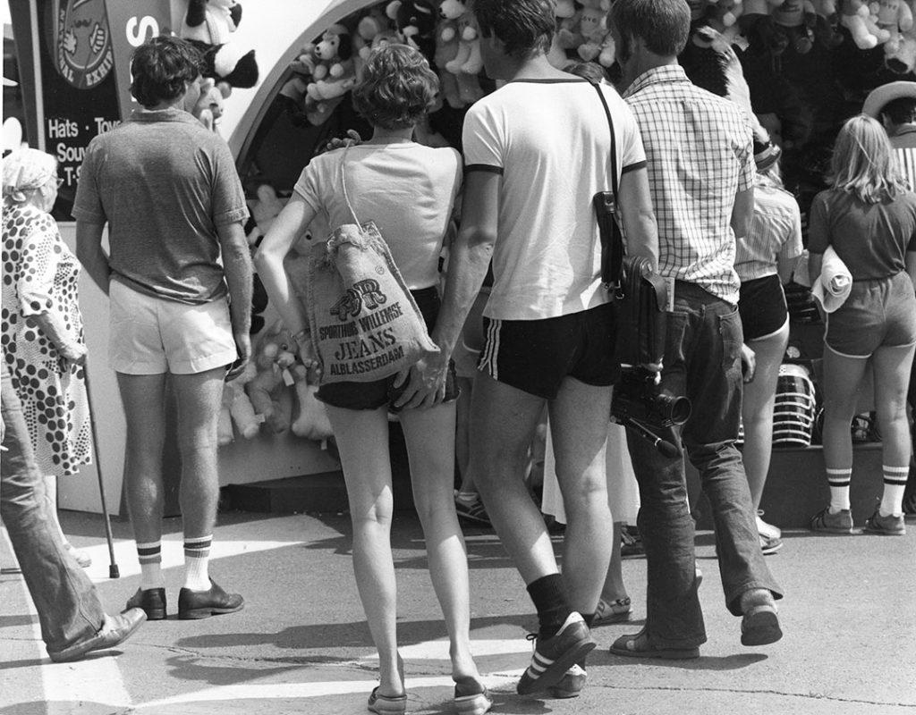 1970 - T-shirts, short-shorts and striped tube socks