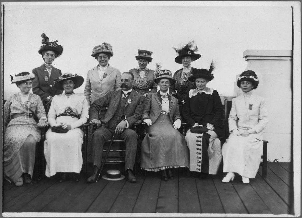 1913 - CNE's President Noel Marshall and a group of women looking proper in mid 1910's attire