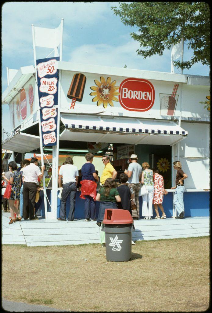 1974 - Borden ice cream booth at the CNE
