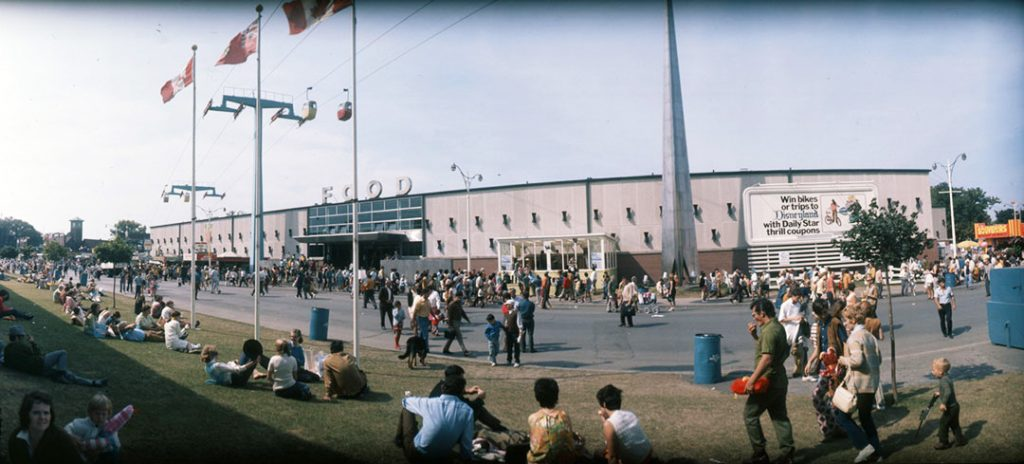 1960's - A view of the Food Building and The Needle at The Ex, looking northwest