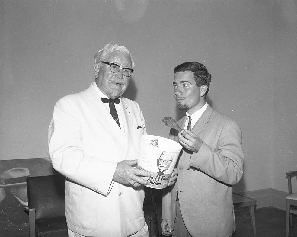 1965 - Kentucky Fried Chicken's Colonel Sanders at the Canadian National Exhibition