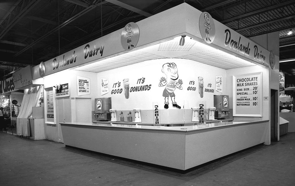 1950's - Donlands Dairy booth at the Canadian National Exhibition