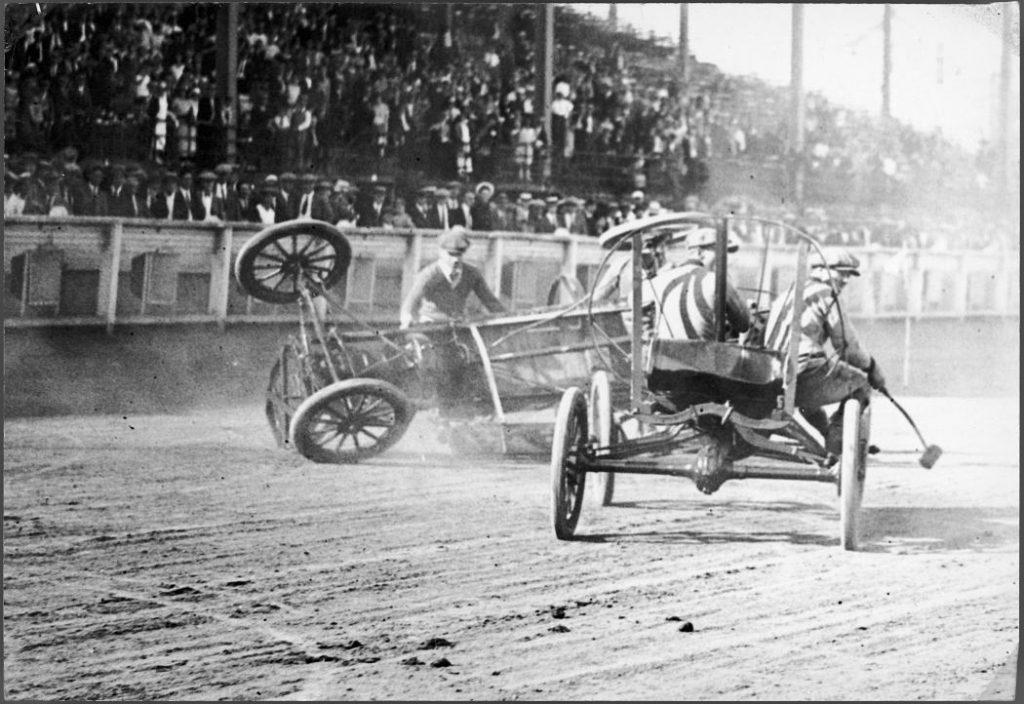 1913 to 1919 - Automobile polo at the third Exhibition Stadium