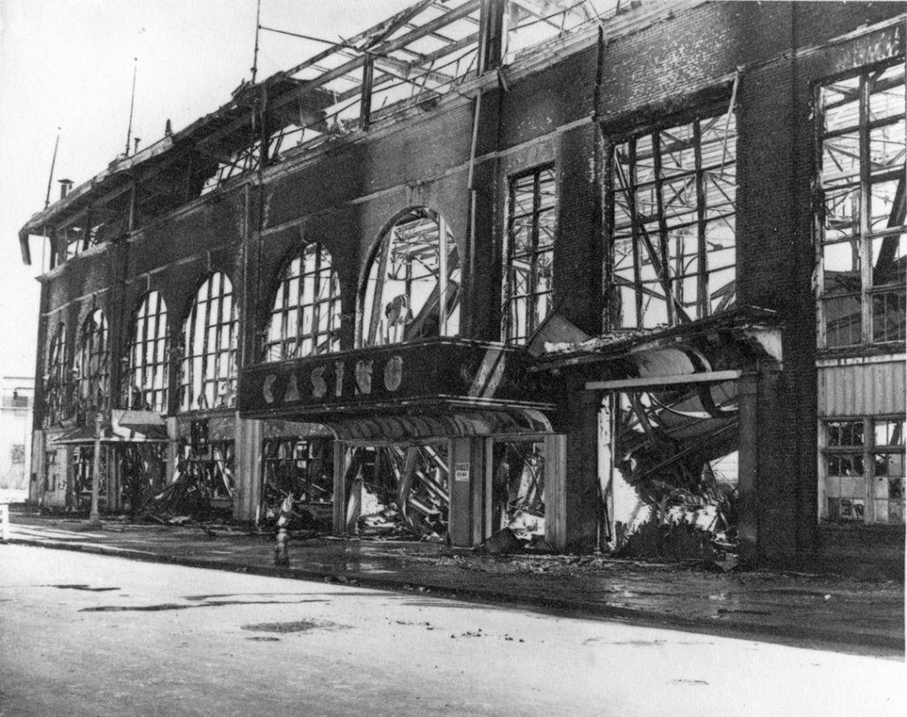 1946 - Fire damage and ruins of the third Exhibition Grandstand