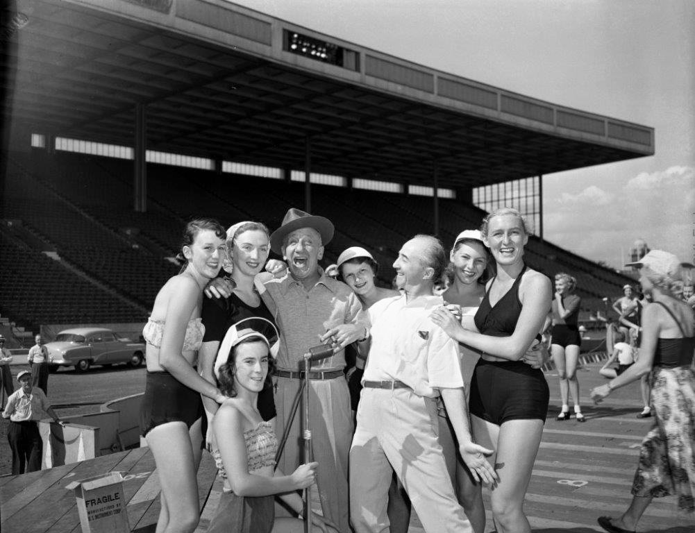 1951 - Jimmy Durante and friends at Exhibition Stadium
