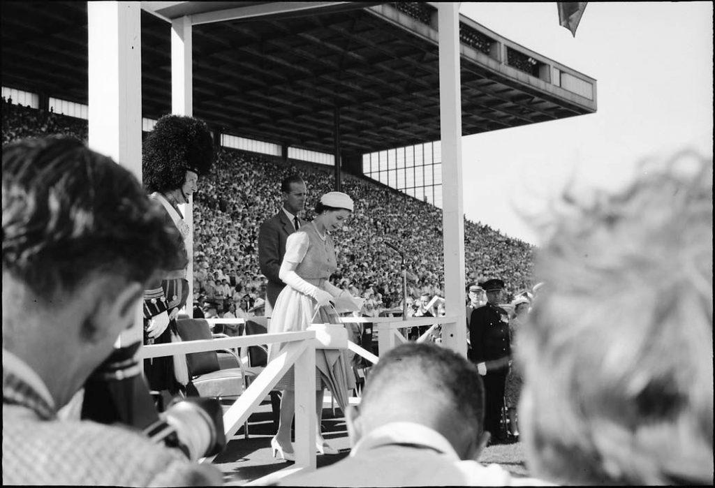 1959 - Queen Elizabeth II and Prince Philip at Exhibition Stadium