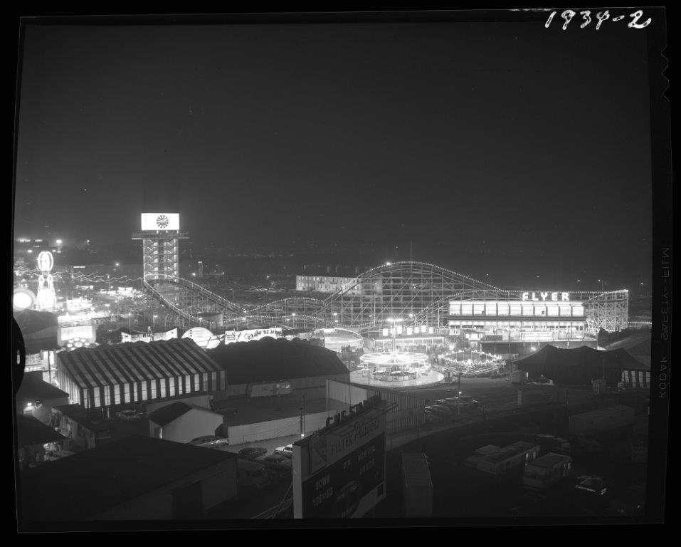 1964 - The CNE Midway at night